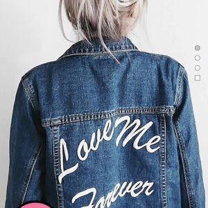 Forever21 Denim Embroidered Jacket